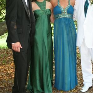Cache Blue and Green Formal Dress